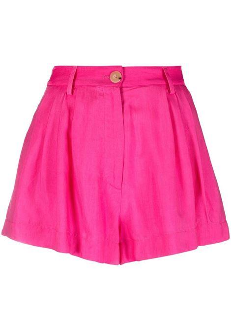 Forte forte front-button shorts women pink spirit FORTE FORTE | Shorts | 8219PNKSPRT