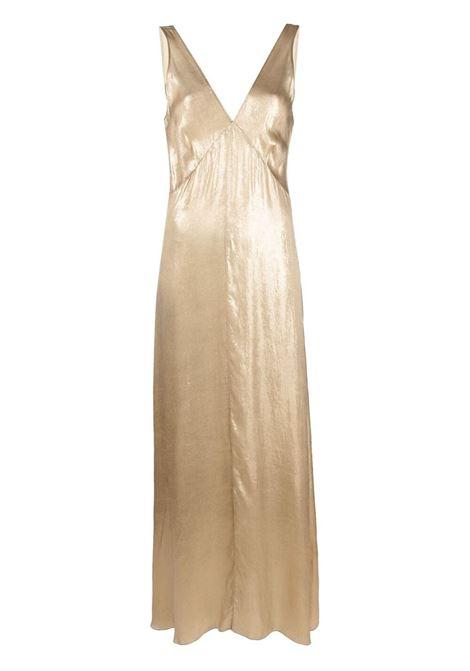 Maxi dress women gold FORTE FORTE | Dresses | 8228GLD