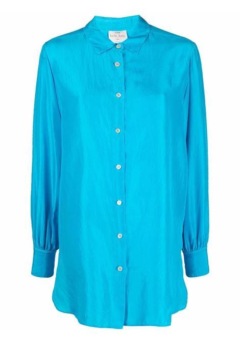 Camicia oversize in blu - donna FORTE FORTE   Camicie   8232MR