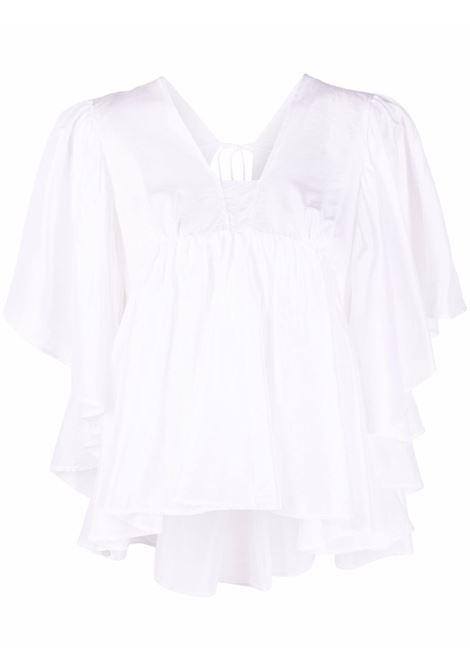 Ruffle-trim blouse women  FORTE FORTE | Blouses | 8237BNC
