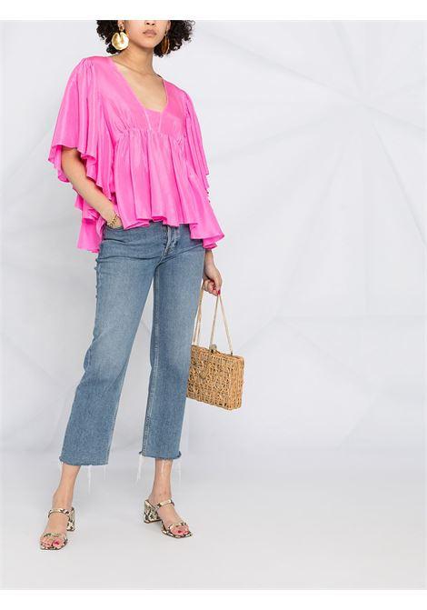Oversized ruffle blouse FORTE FORTE | 8237PNKSPRT