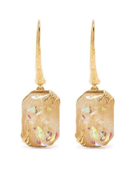 Gemstone drop earrings women ivory FORTE FORTE | Earrings | 8287IVRY