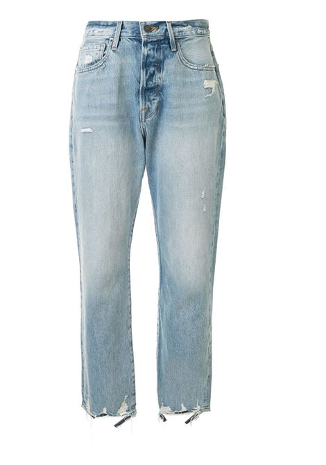 Frame Denim jeans crop con effetto vissuto donna clash FRAME DENIM | Jeans | LOJ385BCLSH