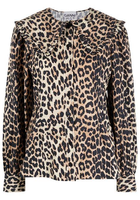 Leopard-print blouse GANNI | Blouses | F5452943