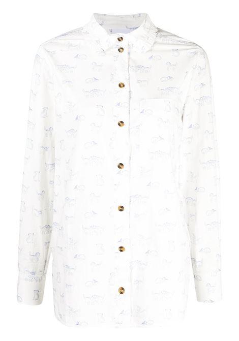 Kitten-print shirt GANNI | Shirts | F5453151