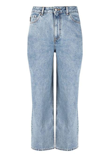 Ganni straight-leg jeans women washed indigo GANNI | Jeans | F5718687