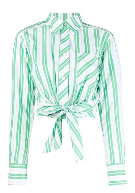 Ganni stripe shirt women kelly green GANNI | Shirts | F5737801