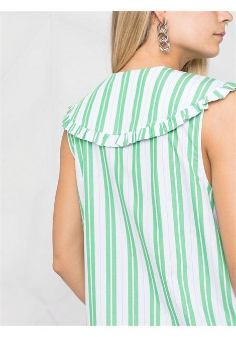 Camicia smanicata a righe Donna GANNI | F5739801