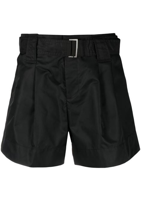 Ganni belted shorts women black GANNI | Shorts | F5753099