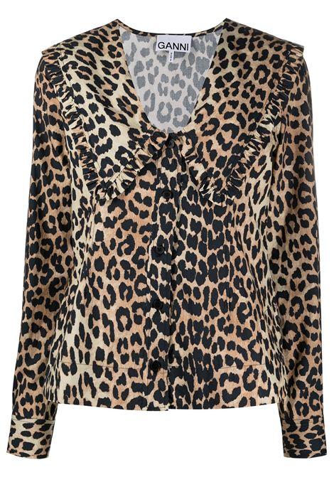 Camicia con stampa Donna GANNI | F5777943