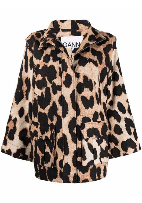 Ganni jacket maxi leopard women GANNI | Outerwear | F5787994
