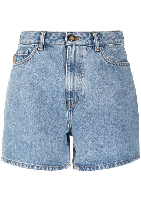 Ganni shorts washed indigo women GANNI | Shorts | F5789687