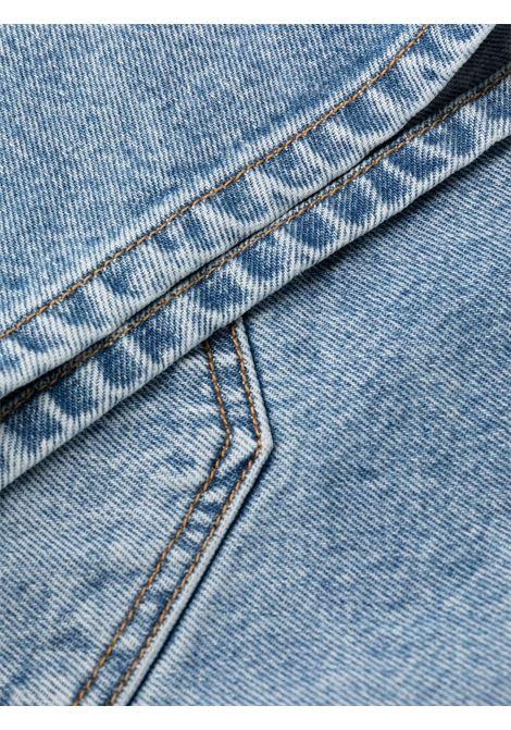 Shorts denim a vita alta Donna GANNI | F5789687