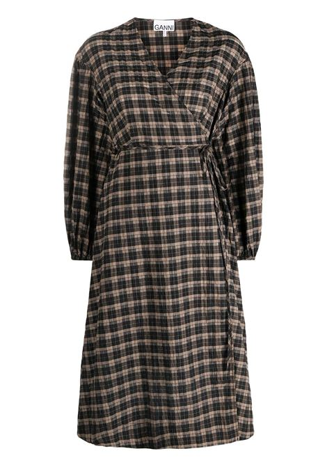 Seersucker check dress GANNI | Dresses | F5827189