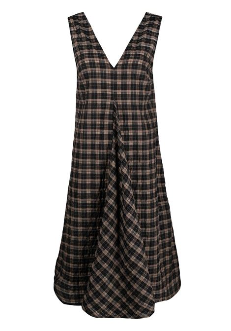 Seersucker check dress GANNI | Dresses | F5854189