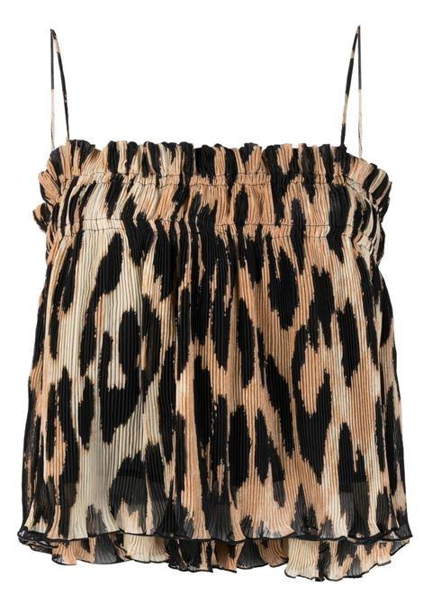 Ganni top maxi leopard women GANNI | Top | F5857994