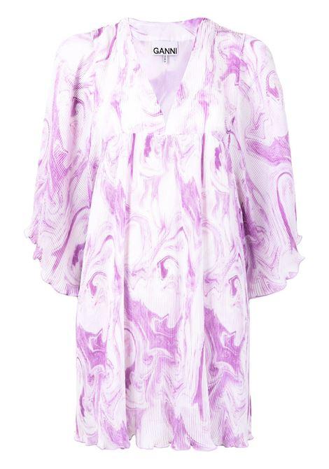 Ganni swirl-print mini dress women orchid bloom GANNI | Dresses | F5861724