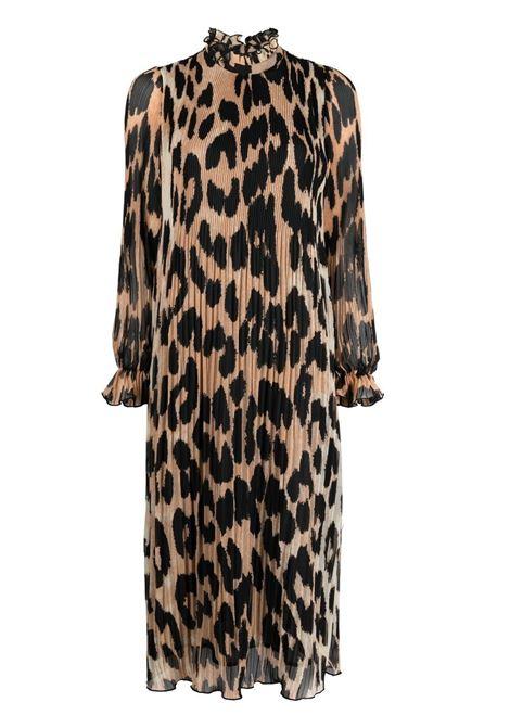 Ganni leopard midi dress women maxi leopard GANNI | Dresses | F5862994