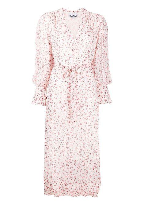 Ganni floral dress women egret GANNI   Dresses   F5879135