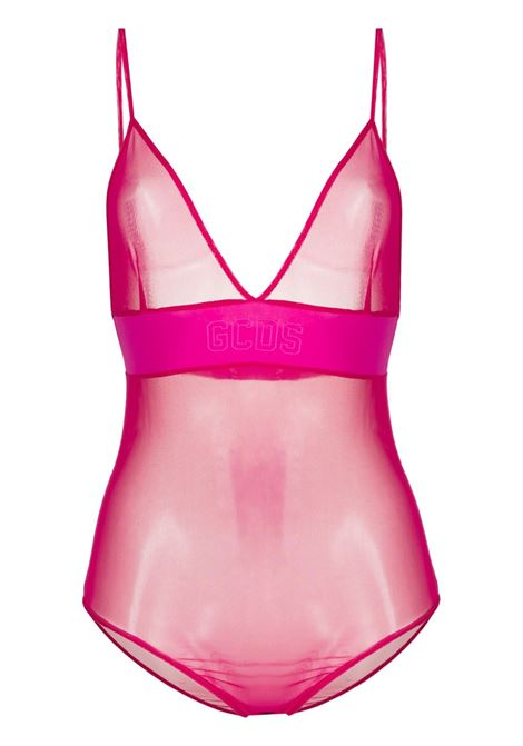 Gcds body semi trasparente donna cherry GCDS | Body | CC94W02060056