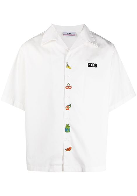 Gcds camicia rick and morty uomo white GCDS | Camicie | RM21M02000401