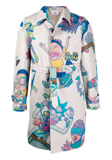 X Rick & Morty trench coat GCDS | Outerwear | RM21M040500MX