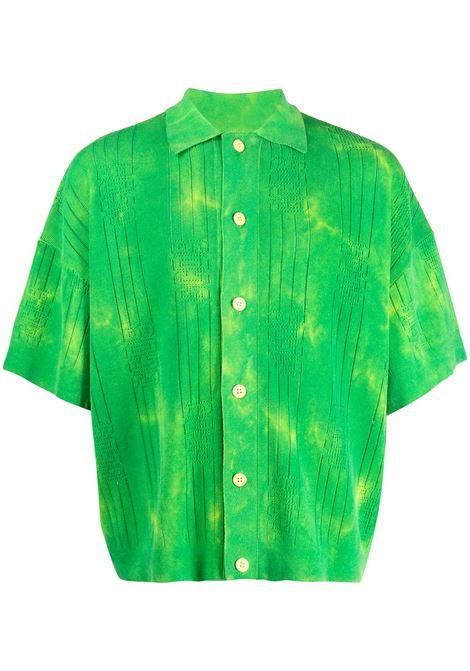 Gcds camicia a maniche corte uomo lime GCDS | Camicie | SS21M02001351
