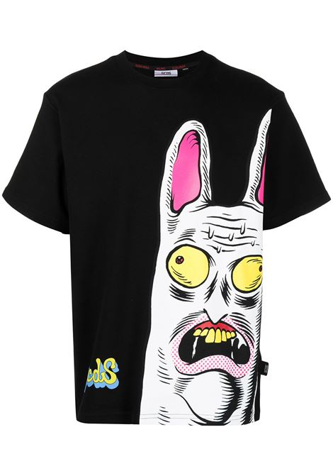 Gcds t-shirt con stampa uomo black GCDS | T-shirt | SS21M02007202