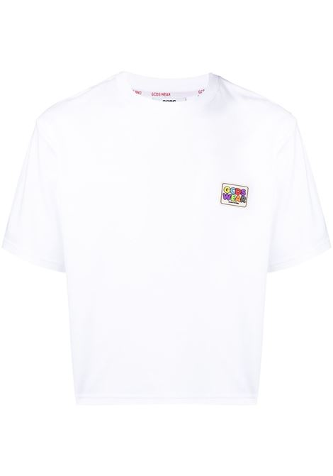 Gcds t-shirt con logo uomo white GCDS | T-shirt | SS21M02007301