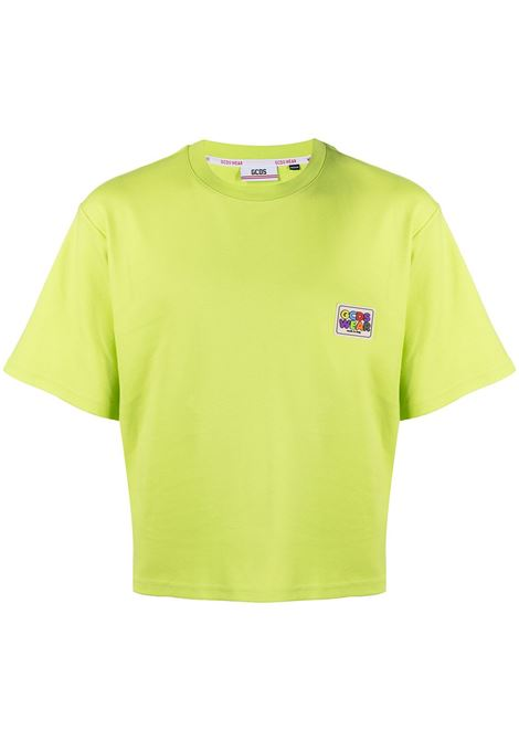 Gcds t-shirt con logo uomo lime GCDS | T-shirt | SS21M02007351