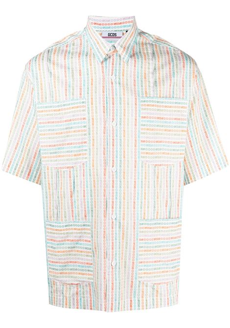 Gcds camicia a righe uomo mix GCDS | Camicie | SS21M020109MX