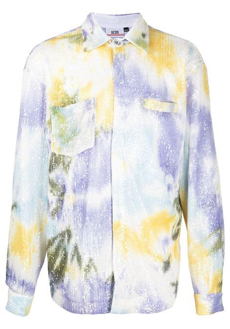 Gcds camicia con fantasia tie dye uomo mix GCDS | Camicie | SS21M040111MX