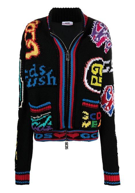 Gcds women logo cardigan black GCDS | Sweaters | SS21U04000102