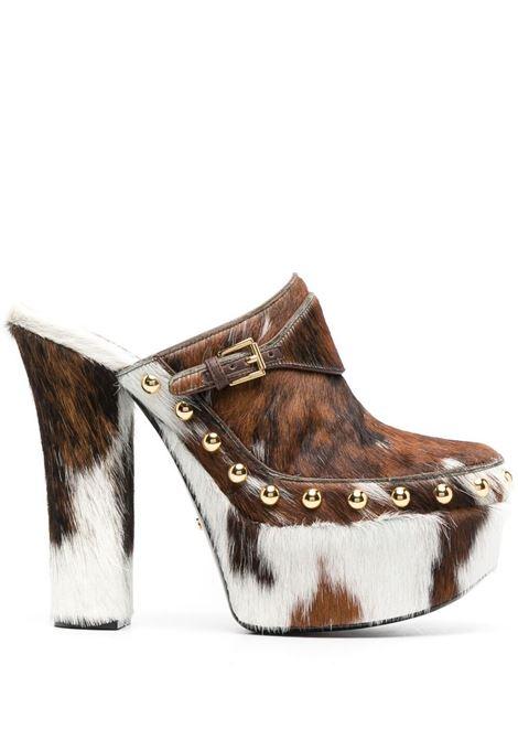 Gcds calf hair mules women brown GCDS | Mules | SS21W01001814