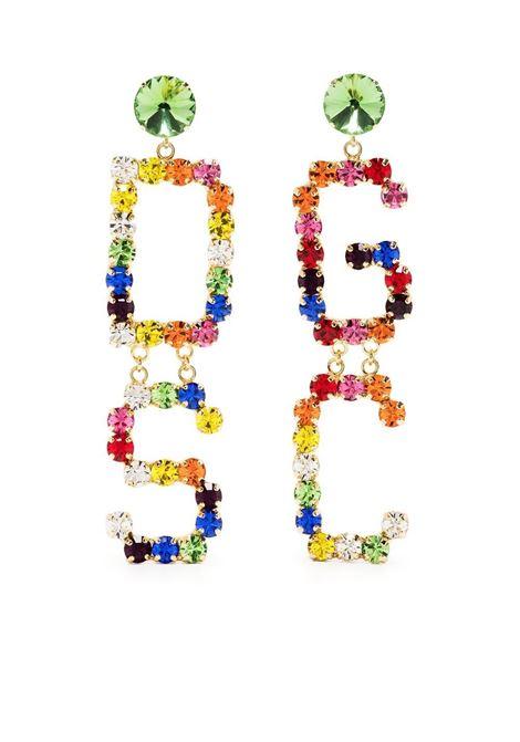 Gcds orecchino con cristalli donna mix GCDS | Orecchini | SS21W010061MX