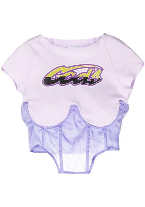 T-shirt a corsetto Donna GCDS | T-shirt | SS21W02003052