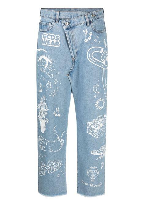 Gcds distressed jeans women new light blue GCDS | Jeans | SS21W03009555