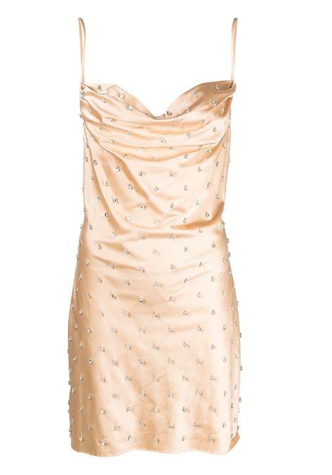 Crystal-embellished cowl-neck dress GIUSEPPE DI MORABITO | Dresses | SS21137DR9205
