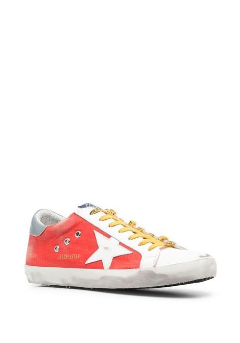 Golden goose super-Star sneakers men red white grey GOLDEN GOOSE   GMF00101F00123740379