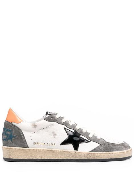 Golden Goose sneakers ballstar uomo white grey black orange GOLDEN GOOSE | Sneakers | GMF00117F00038680342