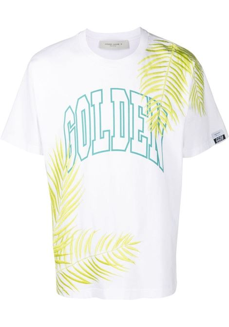 Golden goose golden t-shirt men white green yellow GOLDEN GOOSE | T-shirt | GMP00785P00041710493