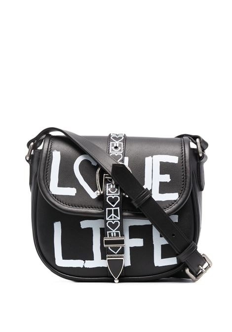 Golden goose graffiti-print bag women black white GOLDEN GOOSE | Crossbody bags | GWA00136A00023680203