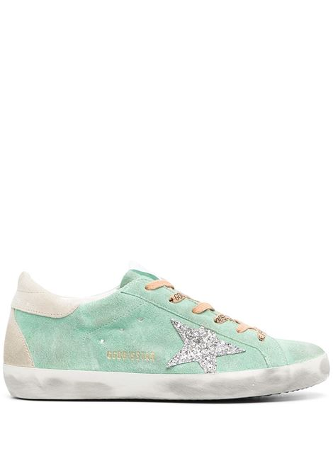 Golden Goose sneakers superstar donna turquoise silver ice GOLDEN GOOSE | Sneakers | GWF00102F00100935697