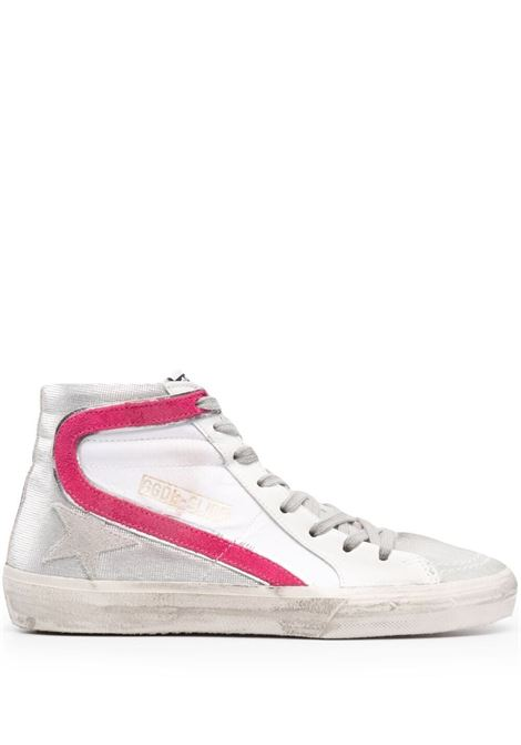 Golden Goose sneakers slide donna white silver GOLDEN GOOSE | Sneakers | GWF00116F00105080806