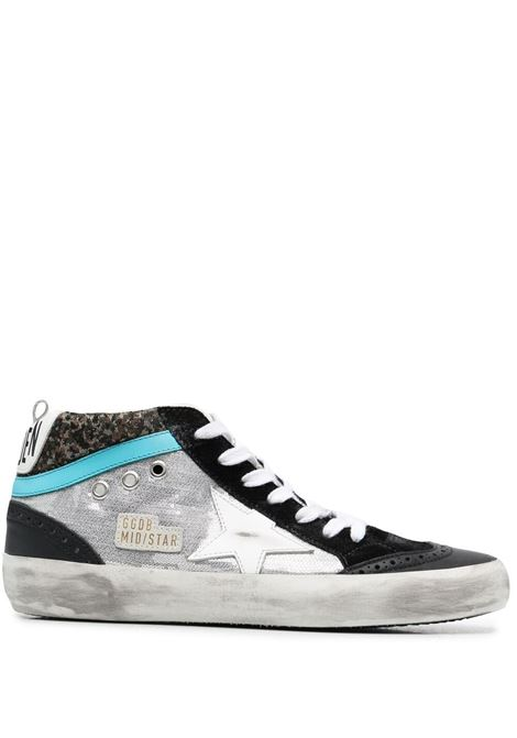 Golden goose sneakers alte mid star donna silver green white black GOLDEN GOOSE | Sneakers | GWF00123F00110880837