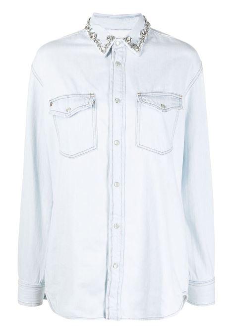 Golden goose camicia con decorazione donna blue GOLDEN GOOSE | Camicie | GWP00589P00040850100