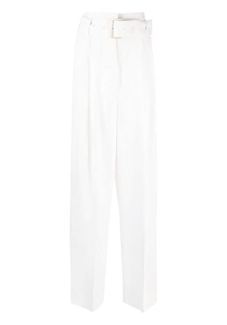 Golden Goose pantaloni a gamba ampia donna optic white GOLDEN GOOSE | Pantaloni | GWP00727P00045710100