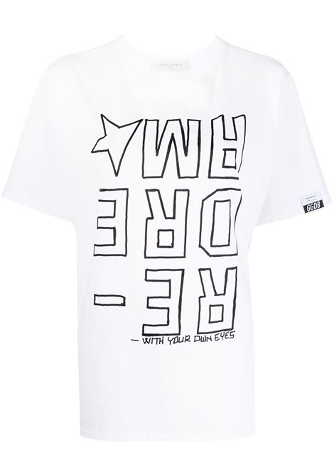 Golden Goose t-shirt redream donna white black GOLDEN GOOSE | T-shirt | GWP00803P00018710283