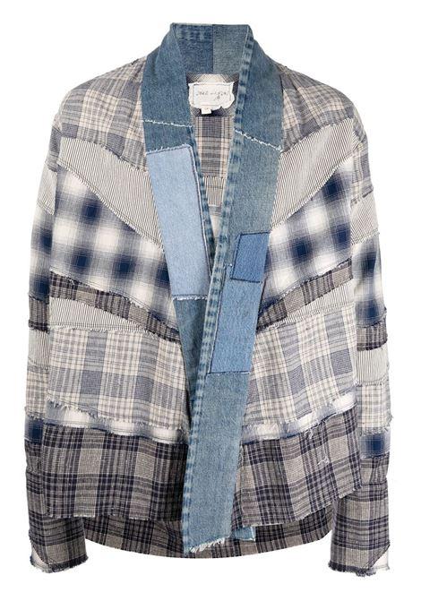 Greg lauren camicia con design patchwork uomo white GREG LAUREN | Capispalla | BM114WHT