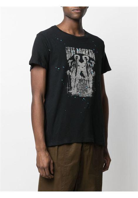 T-shirt con stampa Uomo GREG LAUREN | BM156BLK